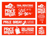 Price break banners. — Stock Vector