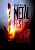 Metal fest design template. — Stock vektor