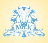 Best milk design. — Stock Vector