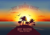Best summer cruise design — Stock Vector