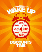 Wake up sale design. — Stock Vector