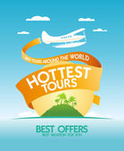 Hottest tours design template. — Stock Vector