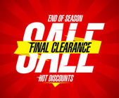 Final clearance sale design — Vetorial Stock