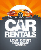 Car rentals design template. — Cтоковый вектор