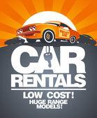 Car rentals design template. — Stock Vector