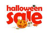 Halloween sale design written in letters of blood. — Stock Vector
