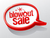 Blowout sale speech bubble — Stock Vector