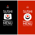 Sushi menu design template. — Stock Vector