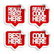 Stock Vector: Best here stickers