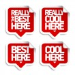 The best here stickers — Stock Vector #31382087