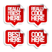 The best here stickers — Stock Vector