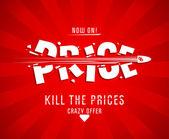 Matar el diseño de los precios — Vector de stock