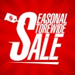 Seasonal storewide sale. — Vector de stock #32245655