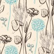 Vector de stock : Vintage flower pattern.