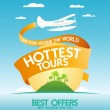 Stock Vector: Hottest tours design template.