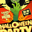 Halloween party in pop-art style. — Stock Vector