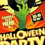 Halloween party in pop-art style. — Stock Vector