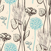 复古的花朵图案. — 图库矢量图片