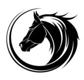 Horse circle tribal tattoo. — Stock Vector