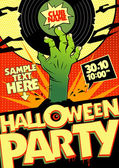Halloween party in pop-art style. — Stockvector