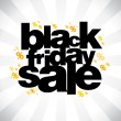 Stock Vector: Black friday sale banner.