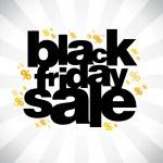 Black friday sale banner. — Stock Vector