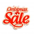 Stock Vector: Christmas sale design template.