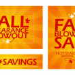 Fall clearance sale banners. — Stock Vector #32617153