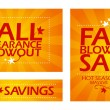 Stock Vector: Fall clearance sale banners.