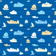 Seamless pattern with boats — Stock Vector