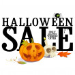 Stock Vector: Halloween sale offer design.