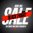 Black friday sale banner. — Image vectorielle