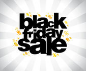 Black friday sale banner. — Stock Vector