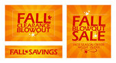 Fall clearance sale banners. — Stock Vector