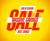 Banner de venta masiva de ahorros. — Vector de stock
