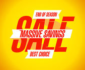 Massive savings sale banner. — Stockvector