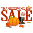 Thanksgiving day sale. — Stock Vector #33137779