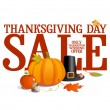 Stock Vector: Thanksgiving day sale.