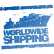 Vector de stock : Worldwide shipping stamp.