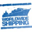 Worldwide shipping stamp. — Stock vektor