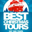 Best Christmas tours design template. — Stock Vector #33137819