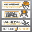 Customer support designs — Stock Vector