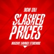 Slashed prices design. — Stock Vector