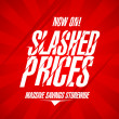 Slashed prices design. — Vektorgrafik