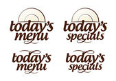 Today Menu icons. — Stock Vector