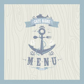 Retro restaurant seafood menu — Stock Vector