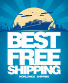 Best free shipping design. — Stock Vector