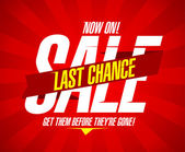 Last chance sale — Stock Vector