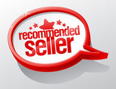Recommended seller speech bubble. — 图库矢量图片