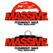 Massive clearout sale designs — Stock Vector